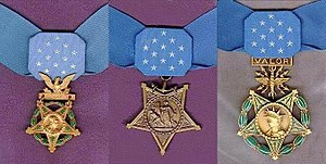 Three medals of honor